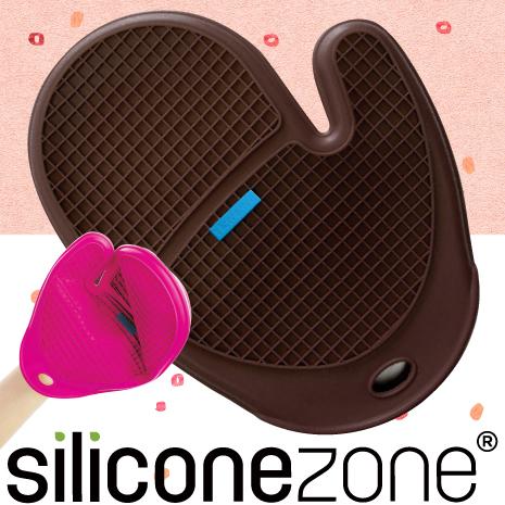 【Siliconezone 】施理康方格防燙矽膠手套-咖啡色