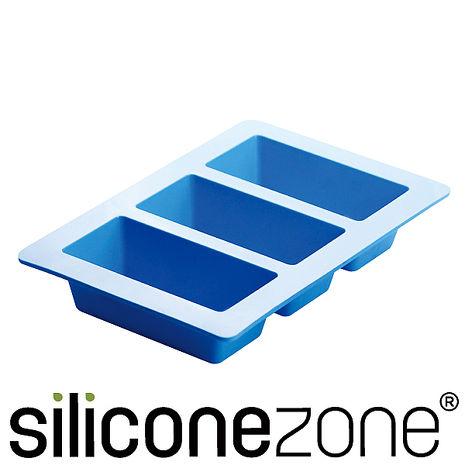 【Siliconezone】施理康耐熱矽膠3格條型蛋糕模-居家日用.傢俱寢具-myfone購物