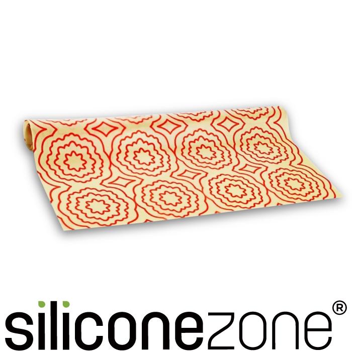 【Siliconezone】施理康耐熱矽膠餅乾烤箱墊-亮橘色