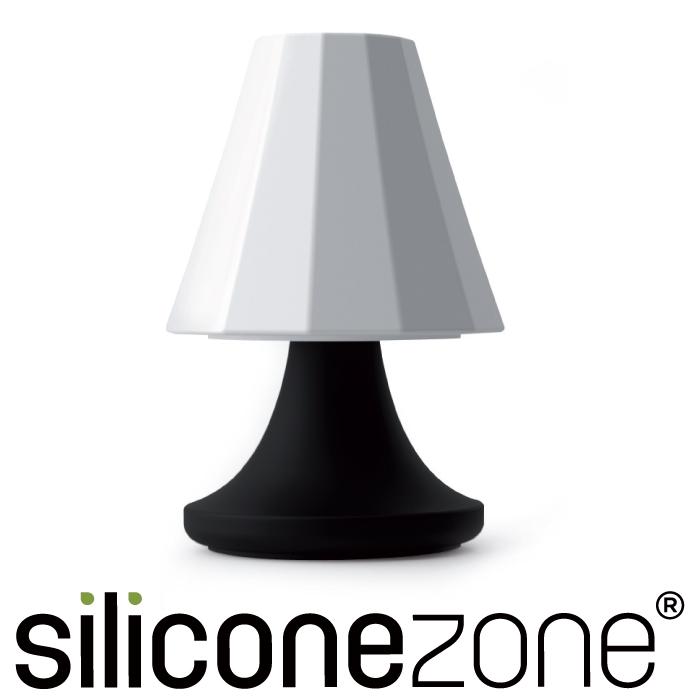 【Siliconezone】施理康可愛檯燈胡椒&鹽罐-黑白
