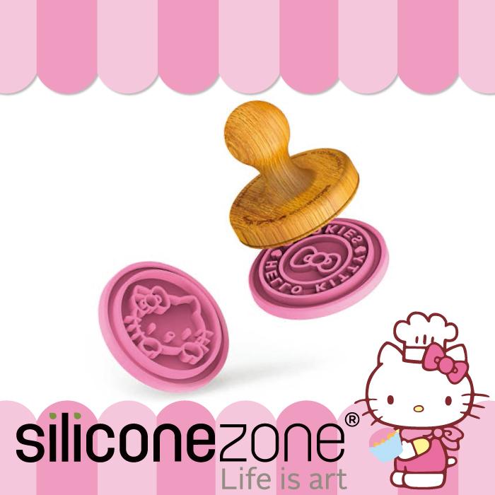 【Siliconezone】施理康 Hello Kitty耐熱矽膠印章餅乾模(4圖案)