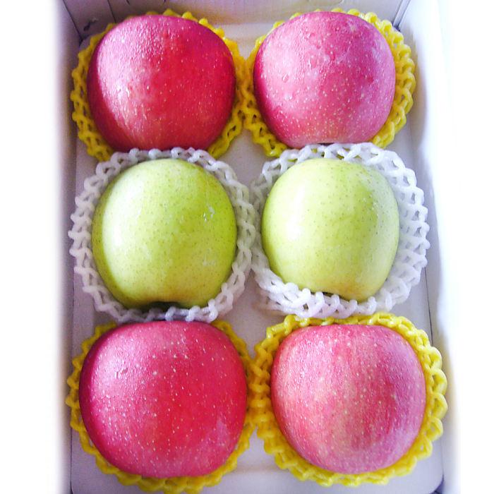 預購-【果之家】鴻圖大展水果禮盒(日本蜜蘋果4粒+日本王林蘋果2粒)