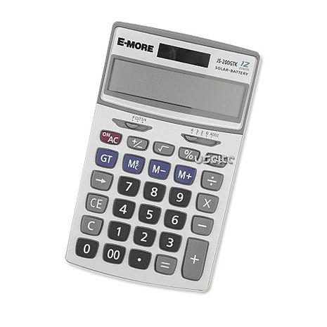 【E-MORE】K值功能桌上型計算機-白 (JS-200GTK)