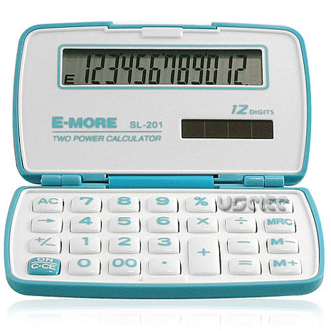 【E-MORE】蜜糖國家考試專用袖珍計算機-藍 SL-201