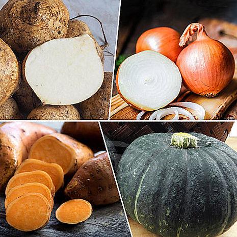 鮮採家 小資家庭綜合蔬果箱B組(栗子南瓜+洋蔥+地瓜+豆仔薯)