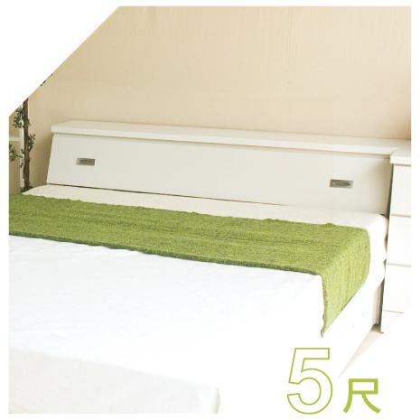 【YUDA】促銷款 純白色 5尺標準雙人床頭箱 (非床頭片/床頭櫃)新竹以北免運費