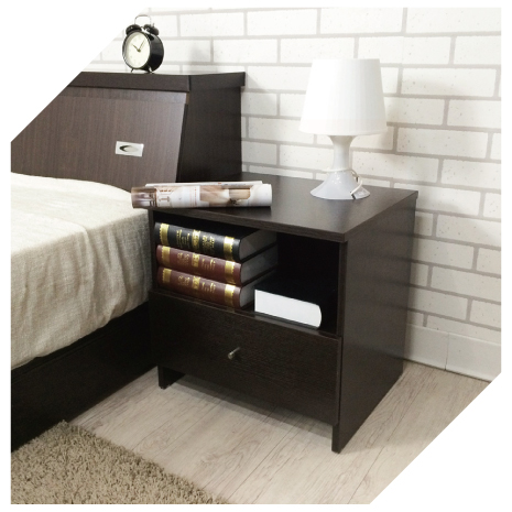 【YUDA】日式簡約  浮雕木紋 空間收納 床頭櫃/床邊櫃/小矮櫃 簡易DIY 全省免運費