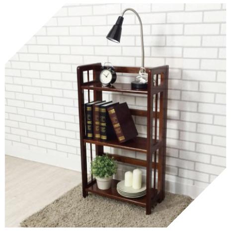 【YUDA】現代簡約 日式禪風 復古懷舊 實木 空間利用 簡易 摺疊 收合 收納 書架/書櫃