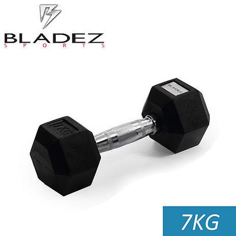 【Bladez】六角包膠啞鈴-7Kg