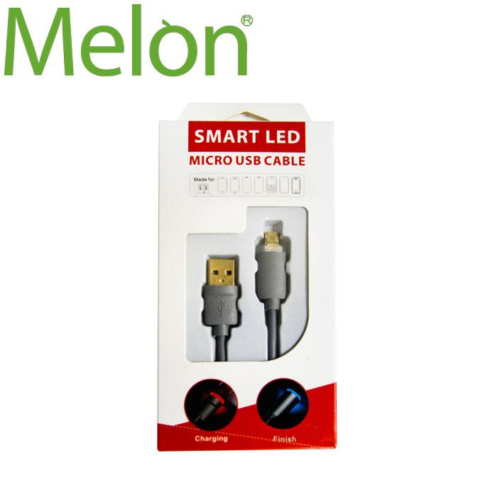 【MELON】急速快充 LED 充電傳輸線MicroUSB BA-022