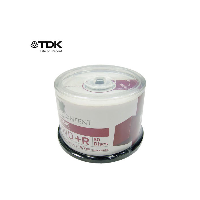 TDK DVD+R 16X CONTENT 50片裝