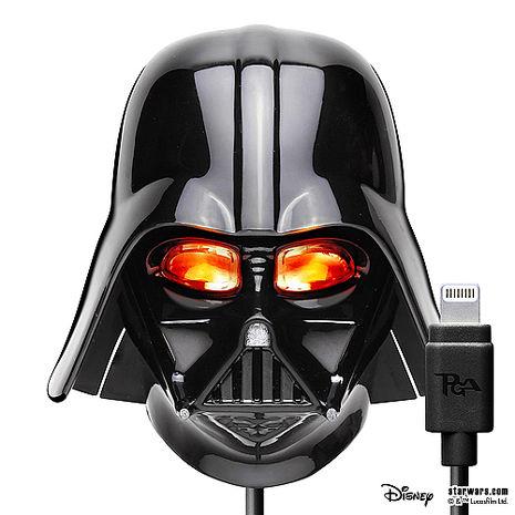 星際大戰 StarWars LED大頭充電器+Lightning充電線(Apple專用)- 黑武士