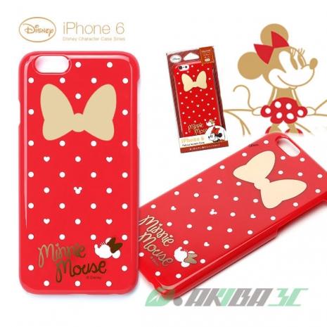 iJacket 迪士尼 iPhone 6/6s 4.7吋 塗鴉 金箔系列 硬式保護殼 - 紅色米妮蝴蝶結
