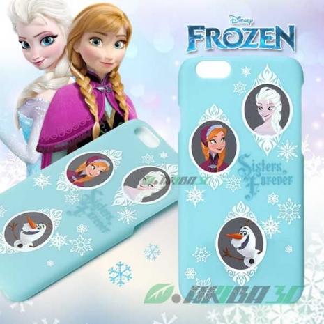 iJacket 迪士尼 iPhone 6/6s 4.7吋 復古霧面硬式保護殼 - 冰雪奇緣