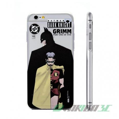 86hero DC Comics 蝙蝠俠 iPhone 6 4.7吋 透明硬式保護殼 - 蝙蝠俠雙人