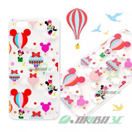 86hero 迪士尼 iPhone 6 4.7吋 透明硬式保護殼 - 米妮熱氣球
