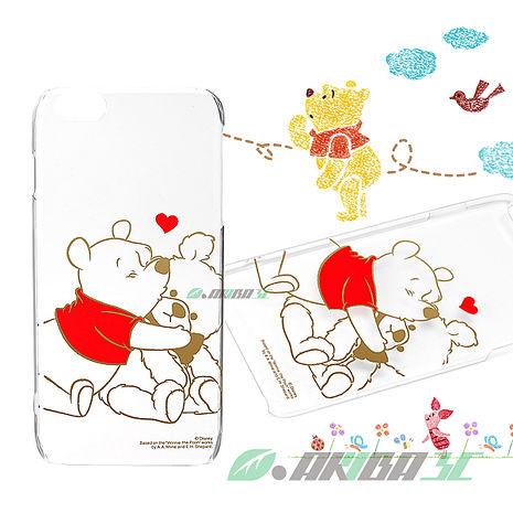 iJacket 迪士尼 iPhone 6 / 6s Plus 5.5吋 金箔系列 透明硬式保護殼 - 小熊維尼