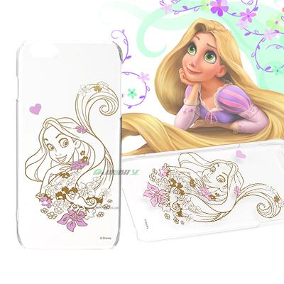 iJacket 迪士尼 iPhone 6 / 6s Plus 5.5吋 金箔系列 透明硬式保護殼 - 長髮公主