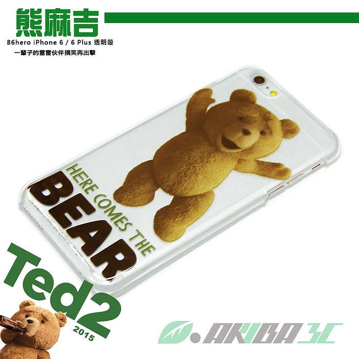 86hero 迪士尼 iPhone 6 Plus 5.5吋 透明硬式保護殼 - 翹腳熊麻吉