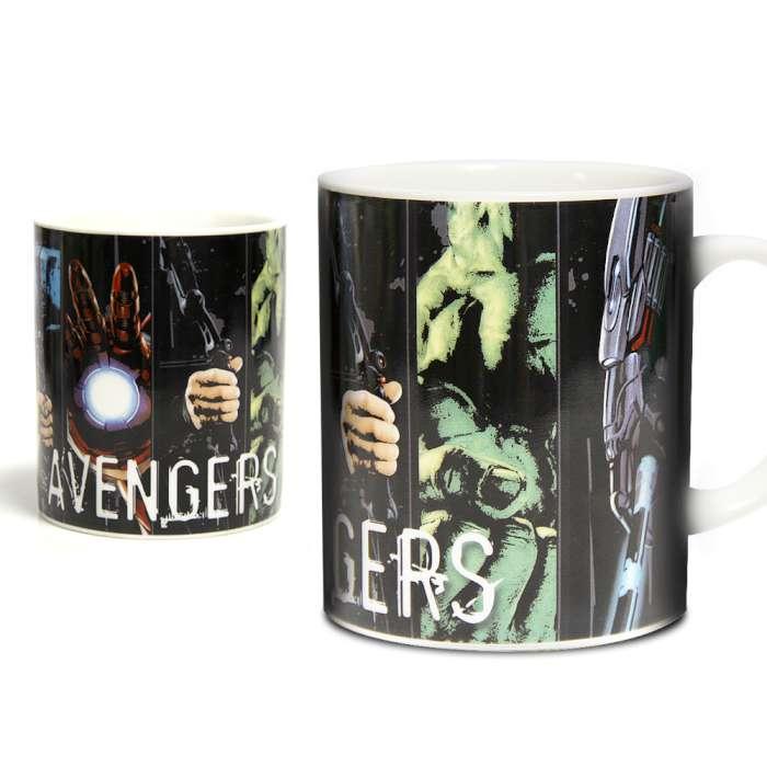 Marvel 授權 復仇者聯盟2:奧創紀元 英雄馬克杯 黑底款