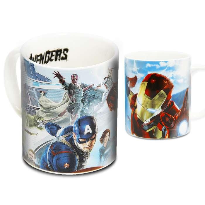 Marvel 授權 復仇者聯盟2:奧創紀元 英雄馬克杯 藍天款