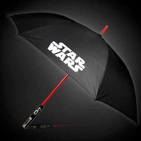 星際大戰 StarWars 光劍造型 1:1還原劍柄 直立傘 雨傘 - 達斯維達(紅色)