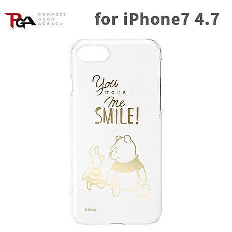 iJacket 迪士尼 iPhone7 4.7吋 透明金箔經典硬式保護殼 - 小熊維尼