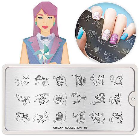 MoYou指彩印花-日式褶紙Origami系列(2款可選)NO.165日式褶紙#07