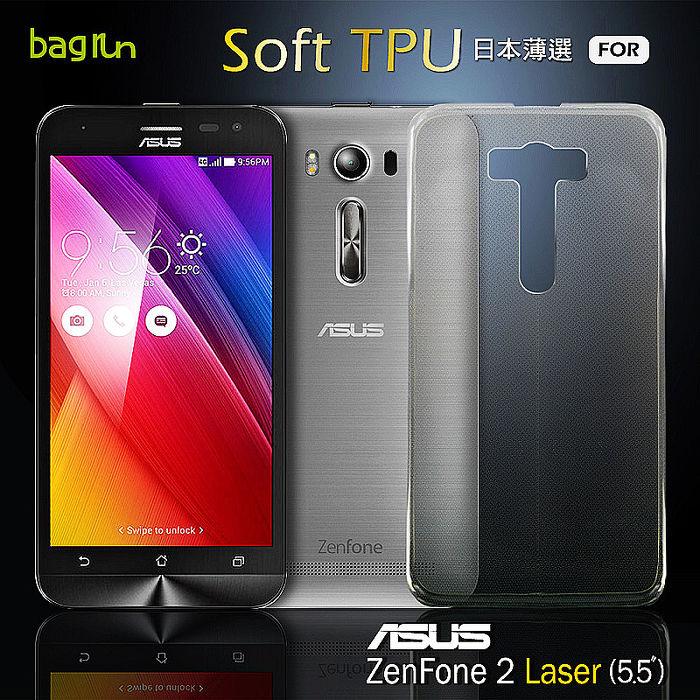 Bagrun Asus ZenFone 2 Laser (5.5吋)日本薄選透明TPU手機保護套