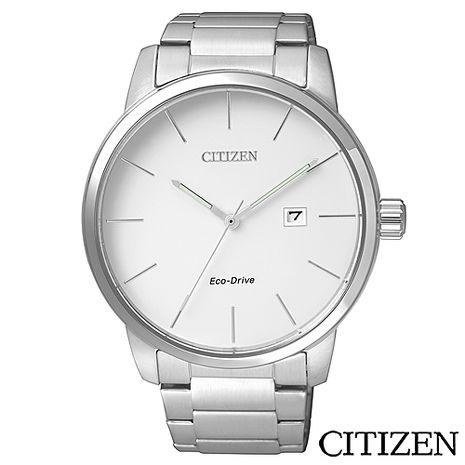 CITIZEN星辰 光動能簡單俐落男仕腕錶 BM6960-56A (雙11特賣)