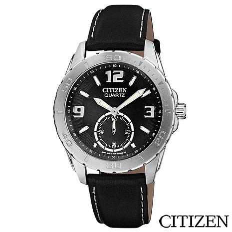 CITIZEN星辰 魅力小秒針都會時尚腕錶-黑 AO3010-05E