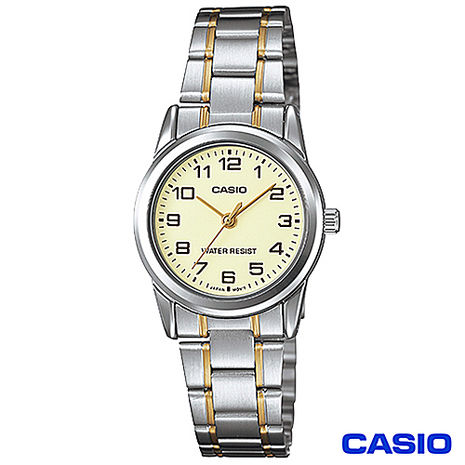 CASIO卡西歐 典藏優雅女性石英腕錶 LTP-V001SG-9B (雙11特賣)