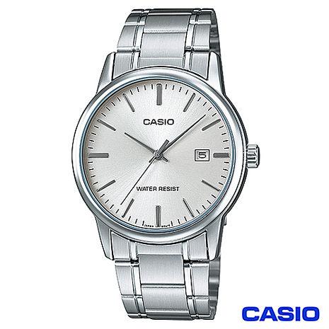 CASIO卡西歐 成熟男仕時尚鋼帶腕錶 MTP-V002D-7A