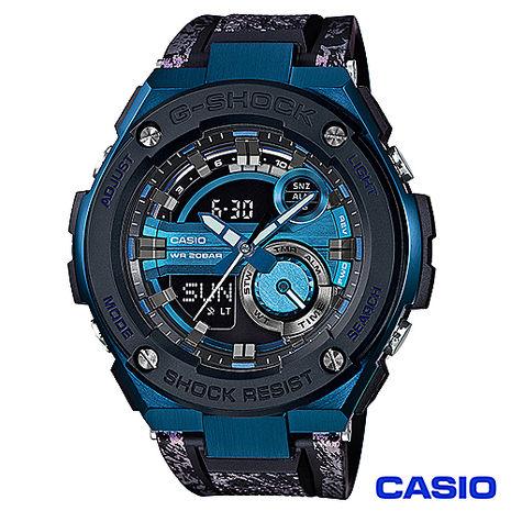 CASIO卡西歐 G-SHOCK強桿風格雙顯運動腕錶 GST-200CP-2A