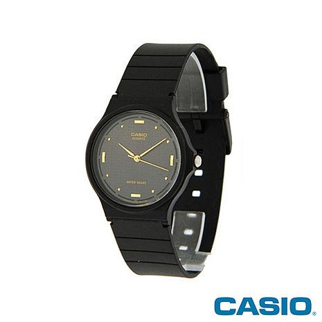 CASIO卡西歐簡約男士樹脂帶黑色指針石英男錶  MQ-76-1A