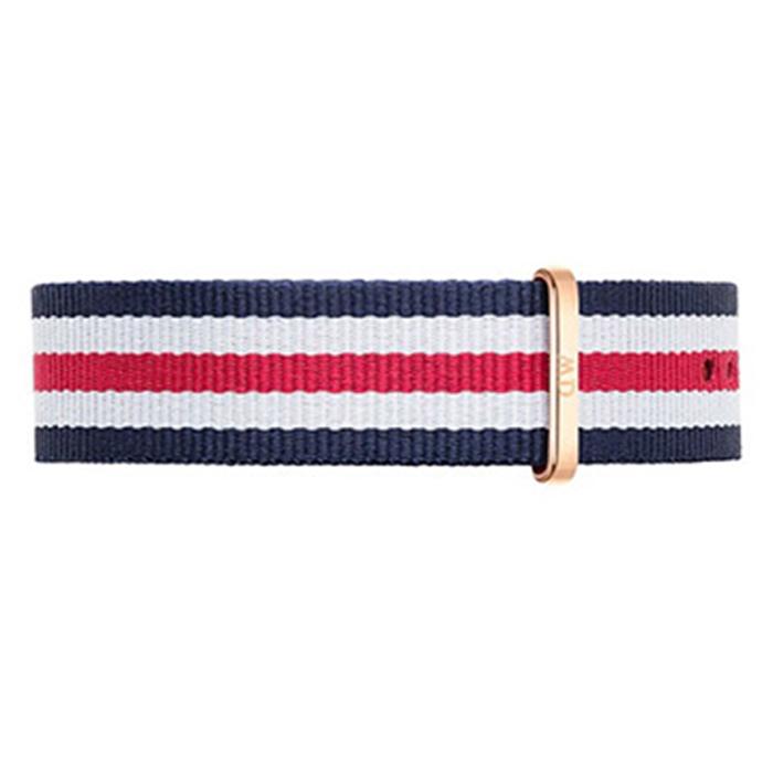 DW Daniel Wellington 藍白紅帆布錶帶/20mm0302DW-服飾‧鞋包‧內著‧手錶-myfone購物