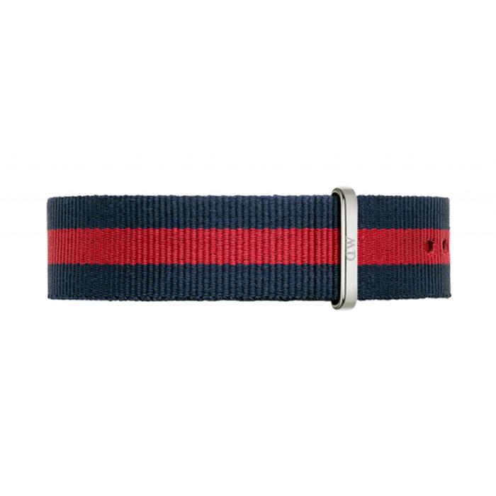 DW Daniel Wellington 藍紅帆布錶帶/18mm 0801DW-服飾‧鞋包‧內著‧手錶-myfone購物