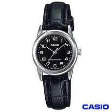 CASIO卡西歐 休閒女仕皮帶腕錶 LTP~V001L~1B