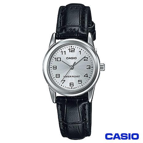 CASIO卡西歐 時尚休閒女仕皮帶腕錶 LTP-V001L-7B (特賣)