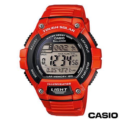 CASIO 潮流戶外運動太陽能電子錶 W-S220C-4A