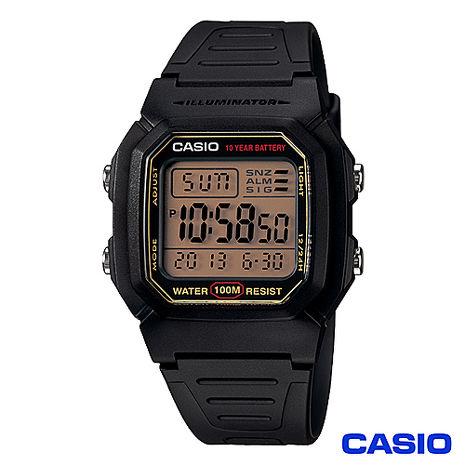 CASIO卡西歐 數位電子式運動風中性錶 W-800HG-9A