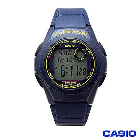 CASIO 數位電子能量運動腕錶 F-200W-2B