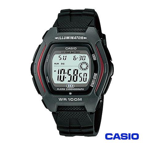 【CASIO卡西歐】潮流造型石英運動手錶 HDD-600-1A