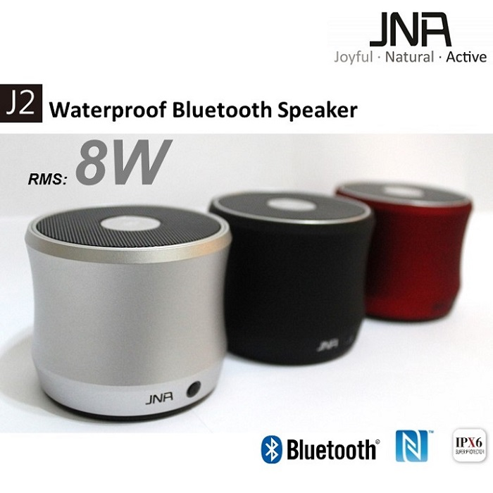 JNA J2 防水NFC藍芽喇叭,藍牙喇叭(銀)