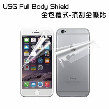 Patchworks iPhone 6 Plus 5.5吋 USG 全包覆式抗刮全機貼 (包邊前後背貼-全透明)