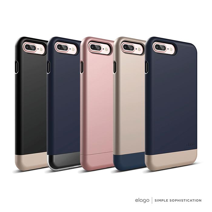 elago iPhone 7 Plus 雙層耐衝擊手機保護殼玫瑰金+玫瑰金