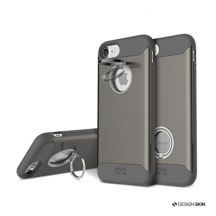 DesignSkin iPhone 8/7 防摔立架兩用指環手機保護殼玫瑰金