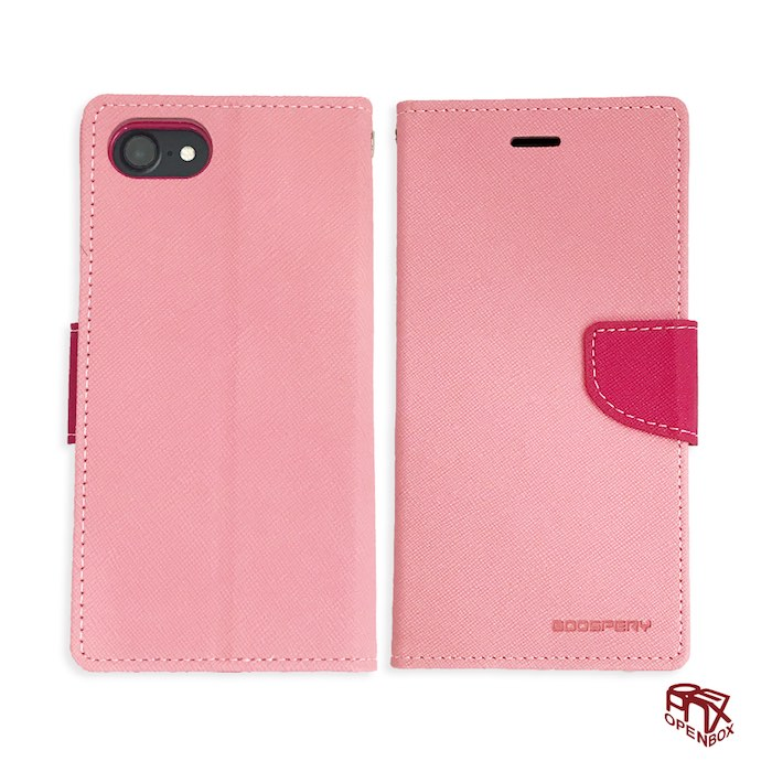 OpenBox iPhone 8/7 側掀磁扣式手機皮套萊姆綠