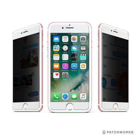 Patchworks iPhone 8/7/6s/6 Plus 神奇防偷窺手機玻璃保護貼(透明進階版)
