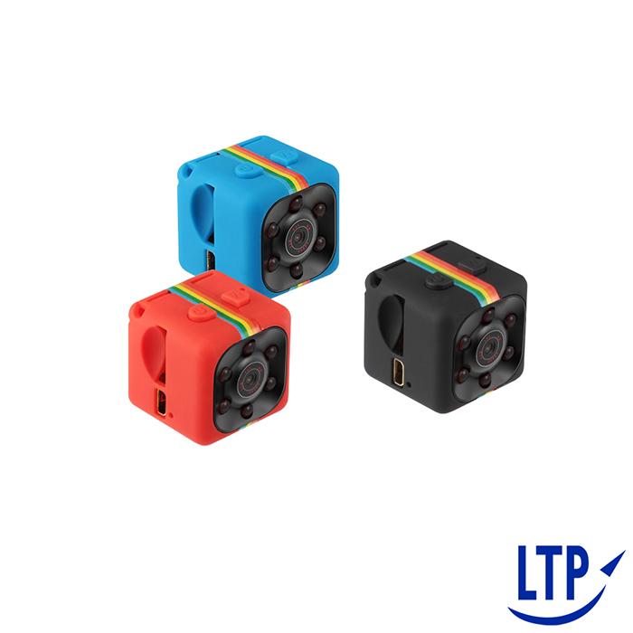 【app520】彩色小方糖可邊充邊錄循環錄影1080P紅外線迷你微型攝影機藍色